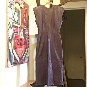 Dresses & Skirts - Vintage purple leather dress